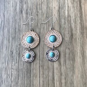 Silver and turquoise earrings!